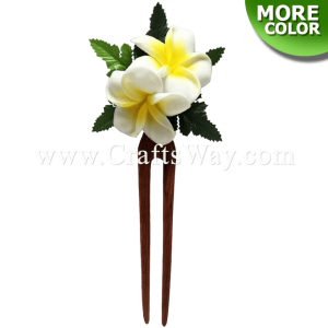 WD2F-103 Custom Made Flower Hairpiece, Plumeria (Z) Hair Stick