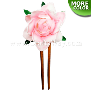 WD2F-401 Custom Made Flower Hairpiece, Gardenia (A) Hair Stick