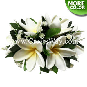CML-001 Custom Made Flower Hairpiece, Plumeria Q (S) Hair Clip