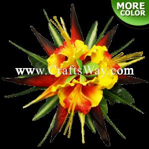 CML-008 Custom Made Flower Hairpiece, Ohai-Ali'i & Bird of Paradise Hair Clip