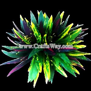 CML-016 Custom Made Flower Hairpiece, Braided Leaves & Lehua Hair Clip