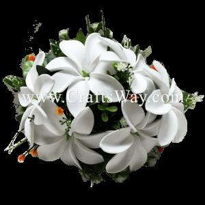 CML-022 Custom Made Flower Hairpiece, Tiare (K) Hair Clip