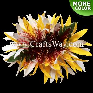 CML-023 Custom Made Flower Hairpiece, Spider Lily & Lehua Hair Clip