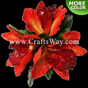 CML-025 Custom Made Flower Hairpiece, Orchid Hair Clip