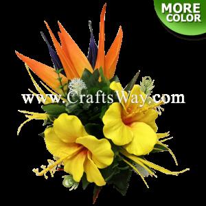 CML-027 Custom Made Flower Hairpiece, Hibiscus (I) Hair Clip