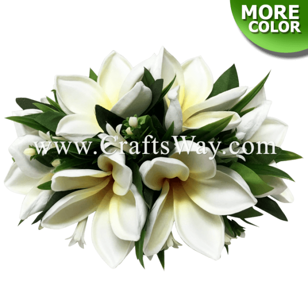 CML-029 Custom Made Flower Hairpiece, Plumeria (N) Hair Clip