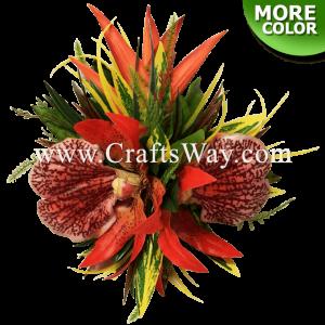 CML-032 Custom Made Flower Hairpiece, Tropical Hair Clip