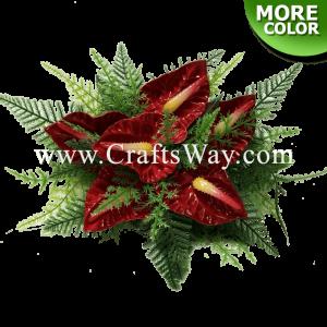 CML-034 Custom Made Flower Hairpiece, Small Anthurium Hair Clip