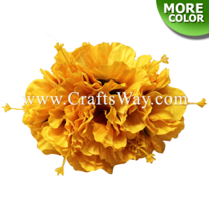 CML-036 Custom Made Flower Hairpiece, Double Hibiscus Hair Clip