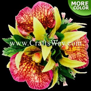 CML-044 Custom Made Flower Hairpiece, Orchid (K) Hair Clip