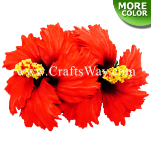 CMM-028 Custom Made Flower Hairpiece, Hibiscus (E) Hair Clip