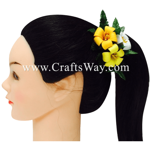 CMM-038 Custom Made Flower Hairpiece, Pua Kenikeni Hair Clip Sample