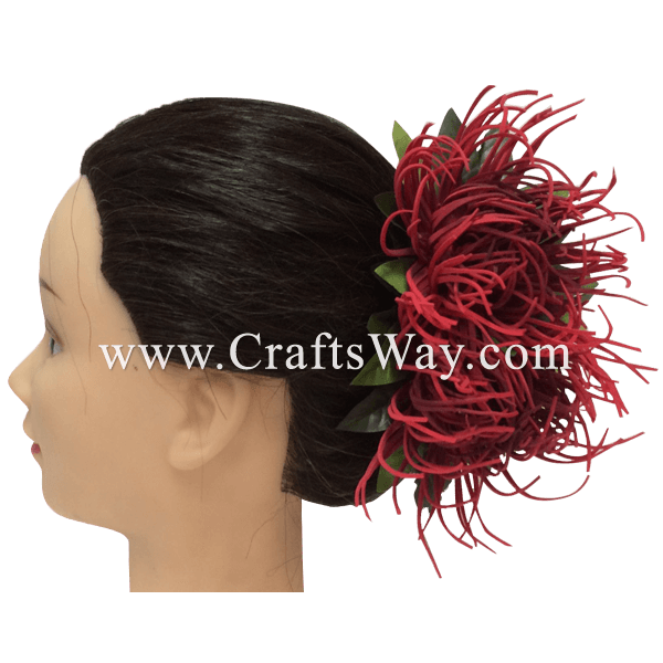 CMM-041 Custom Made Flower Hairpiece, Spider Mum Hair Clip Sample