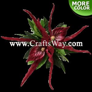 CMM-053 Custom Made Flower Hairpiece, Orchid Hair Clip