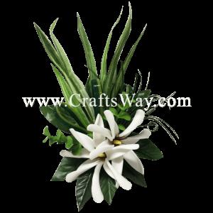 CMM-061 Custom Made Flower Hairpiece, Tiare (V) Hair Clip