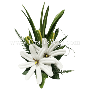 CMM-062 Custom Made Flower Hairpiece, Tiare (H) Hair Clip