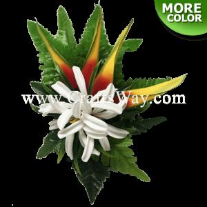 CMM-063 Custom Made Flower Hairpiece, Tiare (J) Hair Clip