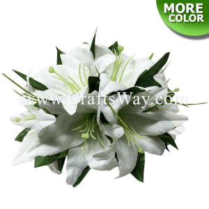 CMM-064 Custom Made Flower Hairpiece, Lily (B) Hair Clip