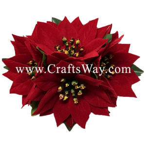 CMM-067-M Custom Made Flower Hairpiece, X'mas Hair Clip