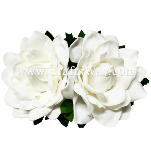 CMM-076 Custom Made Flower Hairpiece, Gardenia (P) Hair Clip