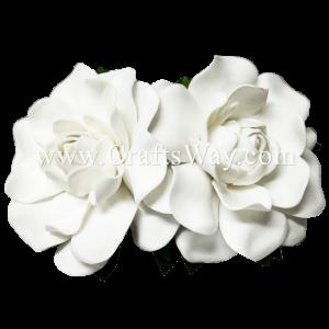 CMM-077 Custom Made Flower Hairpiece, Gardenia (I) Hair Clip