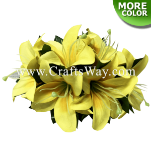 CMM-081 Custom Made Flower Hairpiece, Lily (S) Hair Clip
