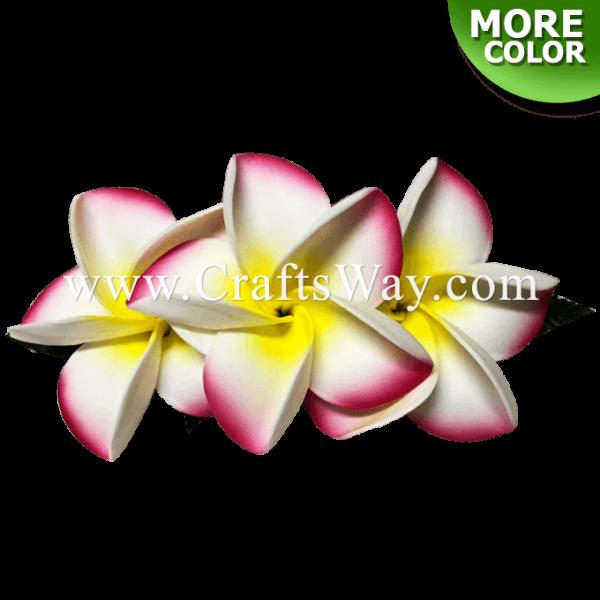 CMM-089 Custom Made Flower Hairpiece, Plumeria (JO) Hair Clip