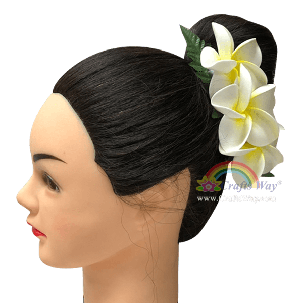 CMM-089 Custom Made Flower Hairpiece, Plumeria (JO) Hair Clip Sample