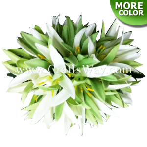 CMM-090 Custom Made Flower Hairpiece, 2 Tone Spider Lily Hair Clip
