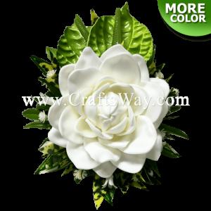 CMM-094 Custom Made Flower Hairpiece, Gardenia (A) & Anthurium Hair Clip