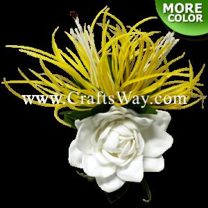 CMM-096 Custom Made Flower Hairpiece, Spider Lily & Gardenia (A) Hair Clip