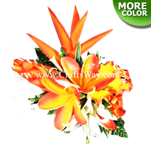 CMXL-001 Custom Made Flower Hairpiece, Tropical Flower Hair Clip
