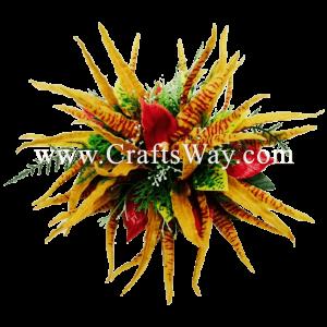 CMXL-003 Custom Made Flower Hairpiece, Orchid (B) Hair Clip