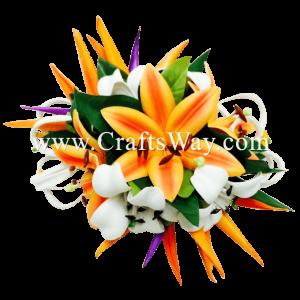 CMXL-005 Custom Made Flower Hairpiece, Tropical Hair Clip