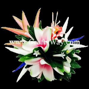 CMXL-006 Custom Made Flower Hairpiece, Tropical Hair Clip