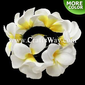 FHN1-01 Custom Made Flower Hairpiece, Silk Plumeria Hair Bun
