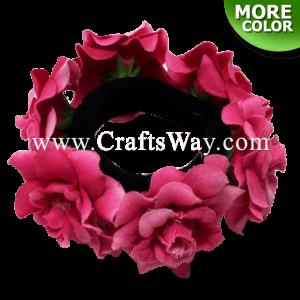 FHN2-01 Custom Made Flower Hairpiece, Silk Rose Hair Bun