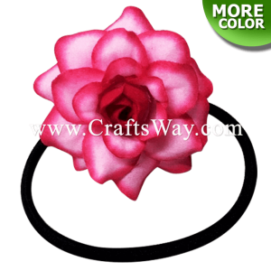 FHN3-01 Custom Made Flower Hairpiece, Rose Rubber Band