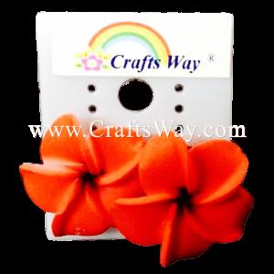 GFE1-04 Artificial Foam Flower, Plumeria Earrings #04 Red
