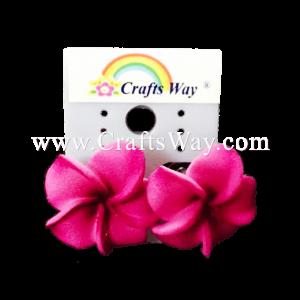 GFE1-49 Artificial Foam Flower, Plumeria Earrings #49 Dark purple