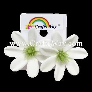 GFE2-01 Artificial Foam Flower, Tiare Earrings