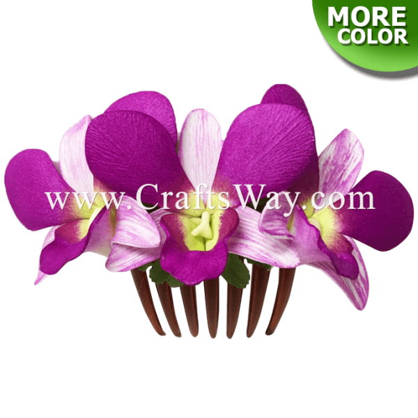 HCM-001 Custom Made Flower Hairpiece, Dendrobium (Special A) Hair Comb