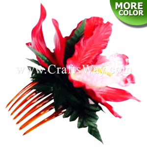 HCM-002 Custom Made Flower Hairpiece, Orchid Hair Comb