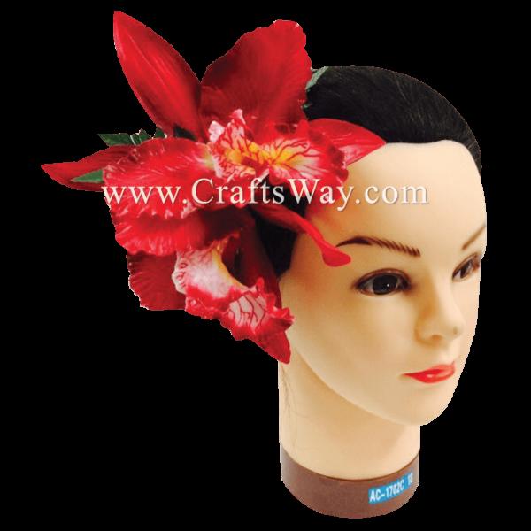HCM-002 Custom Made Flower Hairpiece, Orchid Hair Comb Sample