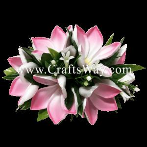 VL-037 Custom Made Flower Hairpiece, Plumeria (N) Hair Clip