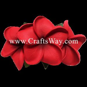 XMS-011 Custom Made Flower Hairpiece, Plumeria (P) Hair Clip