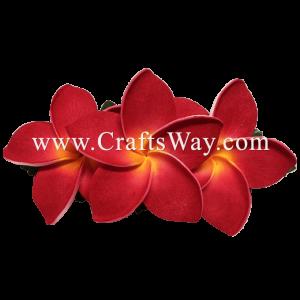 XMS-012 Custom Made Flower Hairpiece, Plumeria (J) Hair Clip