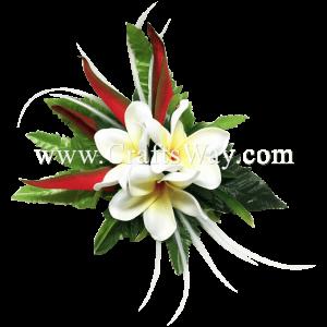 XMS-014 Custom Made Flower Hairpiece, Tropical Hair Clip