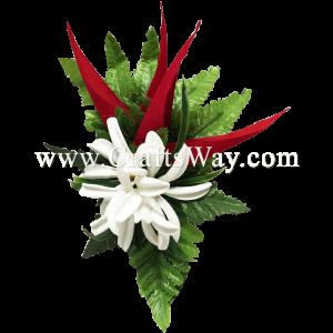 XMS-015 Custom Made Flower Hairpiece, Tropical Hair Clip