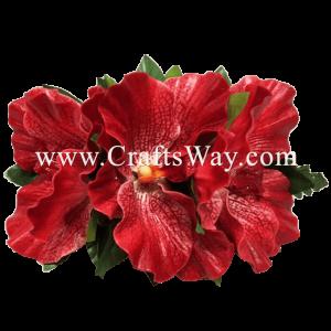 XMS-016 Custom Made Flower Hairpiece, Latex Orchid (E) Hair Clip